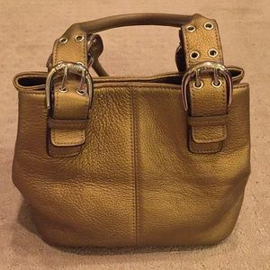 Tignanello Perfect 10 French Tote Gold Leather